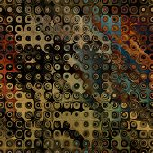 art abstract pixel geometric seamless pattern; background in brown, orange, blue and green colors