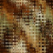 art abstract pixel geometric seamless pattern; background in brown, orange and white colors