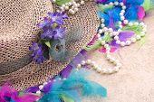 Easter Hat With Pearls And Boa