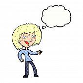 cartoon woman laughing