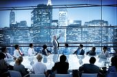 Business People Conference Meeting Boardroom Leader Interaction Concept