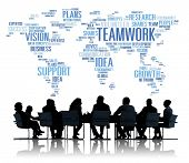 Global Business People Meeting Support Teamwork Concept