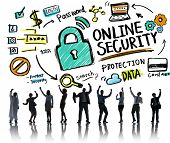 Online Security Protection Internet Safety Business Success Concept
