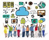 Diversity Casual People Cloud Computing Celebration Community Concept