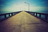 Road to horizon. LOMO effect