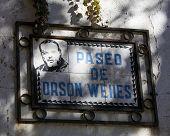Paseo De Orson Welles In Ronda, Andalusia, Spain
