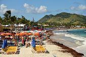 Tourists On Orient Beach St Maarten
