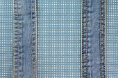 Jeans With Stitch On Blue Dot Cloth
