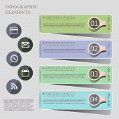Modern Origami Style Infographic Banners