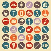 Set of house repair tools icons.
