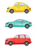 Cute colorful cars