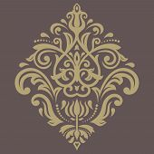Damask Vector Pattern. Orient Ornament