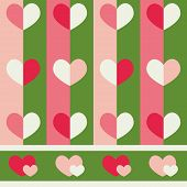 Seamless vector pattern with hearts