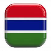 Gambia Flag Icon Image