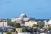 picture of san juan puerto rico  - Old and new buildings on the coast of Puerto Rico in San Juan - JPG