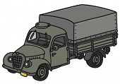 Classic military truck