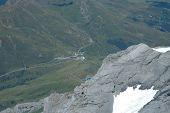 View From Jungfraujoch Pass In Alps In Switzerland