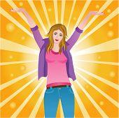 Happy Successful Joyful Woman