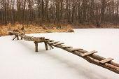 Footbridge And Ice