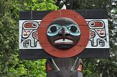 pic of indian totem pole  - Totem poles in Stanley Park - JPG