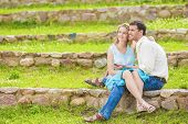 pic of sweethearts  - Portrait of Two Caucasian Sweethearts Together Outdoors - JPG