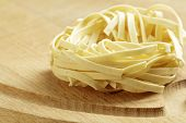 An Uncooked Pasta Nest