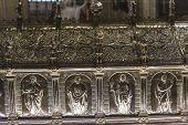 Interiors of Saint Salvator's Cathedral, Bruges, Belgium