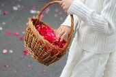 throw rose petals
