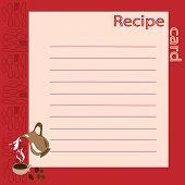 Recipe Blank. Vector Illustration