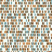 Abstract seamless pattern. Horizontal vector illustration. Brown blue figures. Plain geometric textu