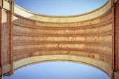 Arc De Triomf, Barcelona, Extreme Worm's Eye View