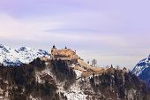 Castle Werfen near Salzburg Austria - architecture and nature background