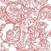 Classic baroque floral seamless pattern.