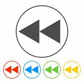 Glossy Multimedia Icon  backward