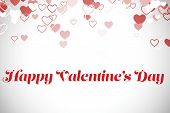 Cute valentines message against white background with vignette
