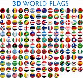 stock photo of  realistic  - Country flags of the world  - JPG