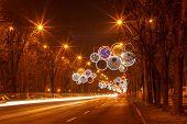 City lights on holidays