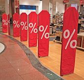 Sale in a shopping mall