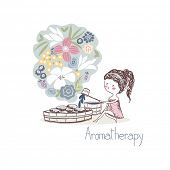 beauty concept, aromatherapy