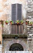 Balcony In The City Of Orvieto