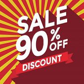 Sale 90% off discount