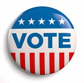 stock photo of election campaign  - Vote election campaign badge button - JPG