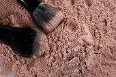 Powder Make Up Foundation Close Up With Detail