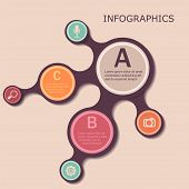 Abstract infographic design. Metabolic banners for information