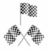 black and white sport flag