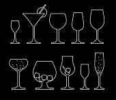 collection of alcoholic glass