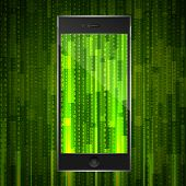 matrix background on phone display