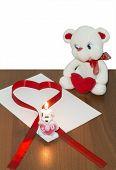 Teddy Bear And Bunny With Heart