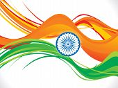 Abstract Indian Republic Day Wave Background