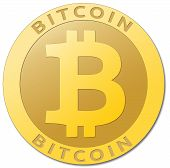 stock photo of currency  - We accept bitcoins - JPG